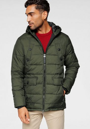 CAMP DAVID Winterjacke mit doppelter