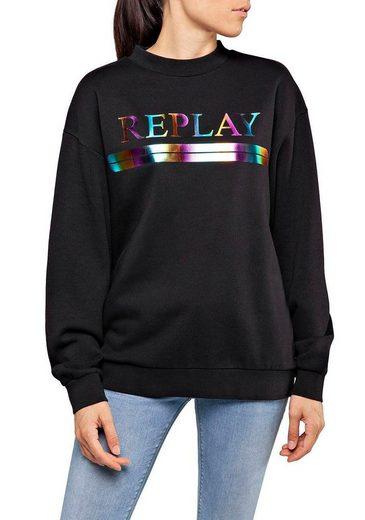 Replay Sweatshirt mit großem Front-Print