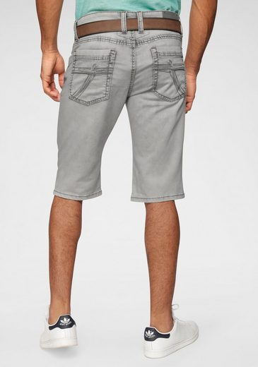 CAMP DAVID Jeansshorts im Used-Look